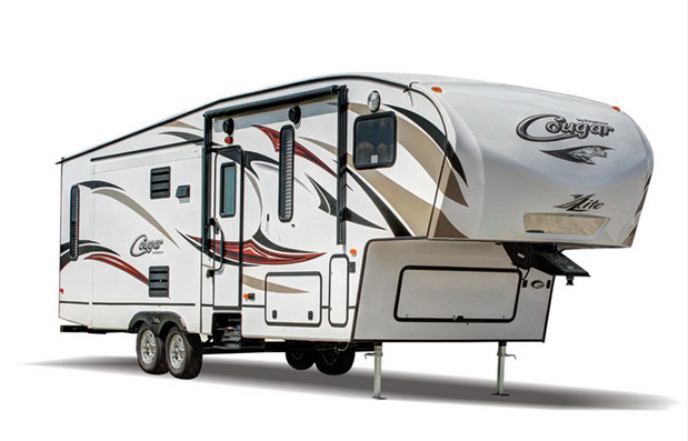 exterior cougar xlite fifth wheel