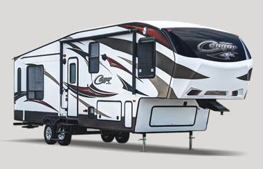exterior cougar fifth wheel