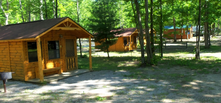 4 fun camping locations in michigan, picture of timber ridge rv and recreation resort, picture of cabins at timber ridge rv park